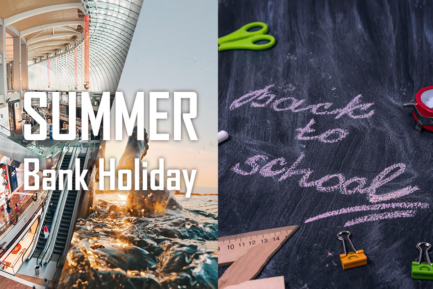 Summer bank holiday and back to school