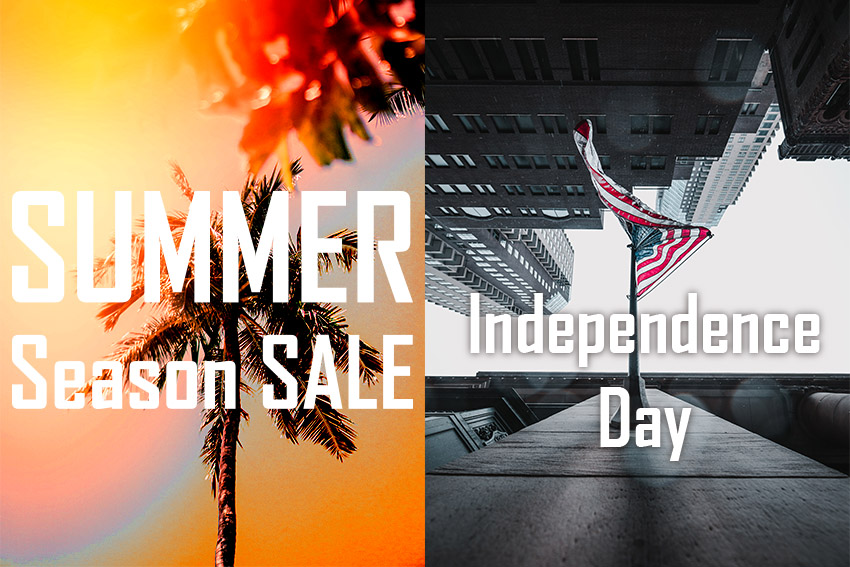 Summer season sale and Independence day