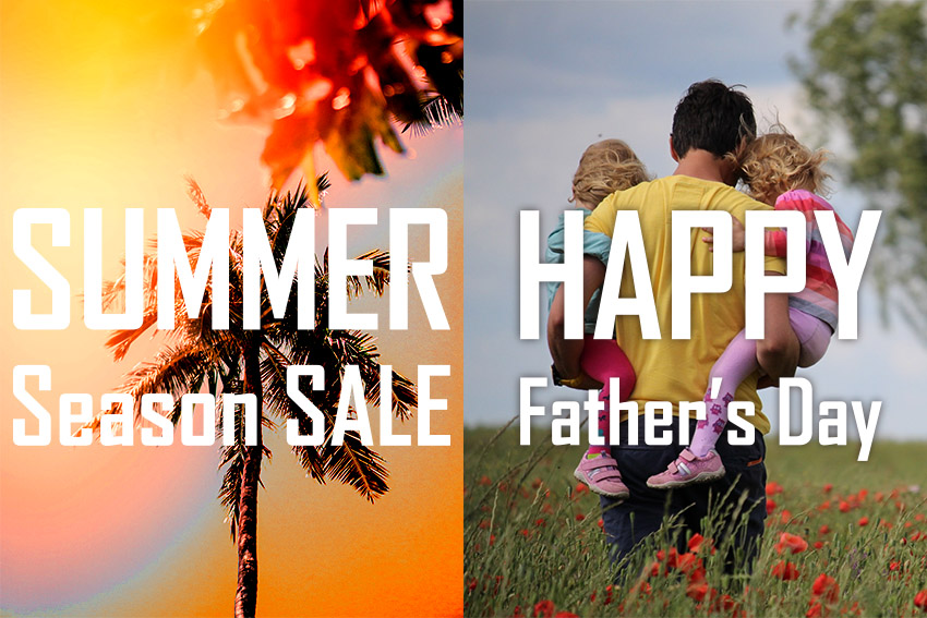 Summer season sale and father's day