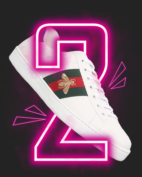TOP2 GUCCI Ace Bee Sneakers PS